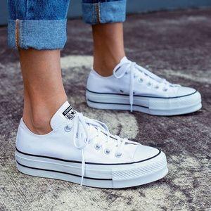 White Platform Converse